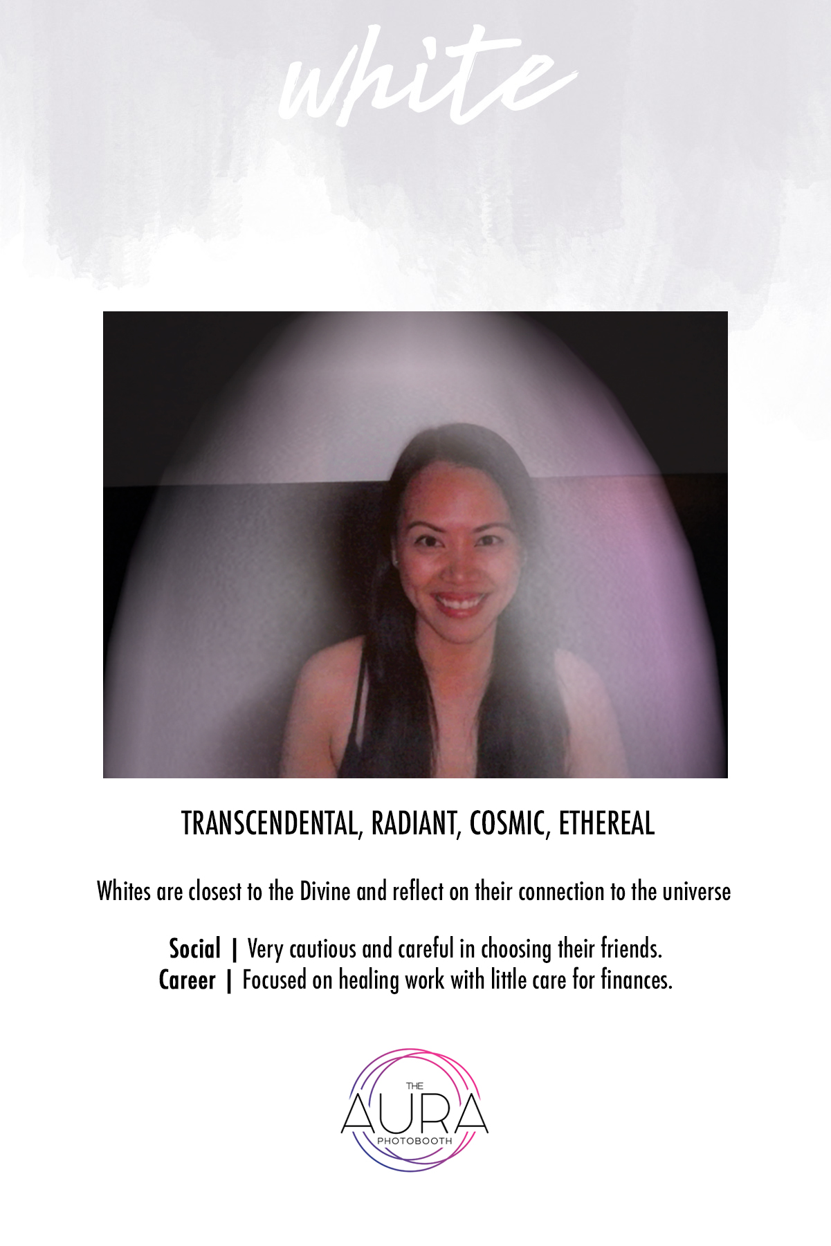 White Aura Reading | The Aura Photobooth