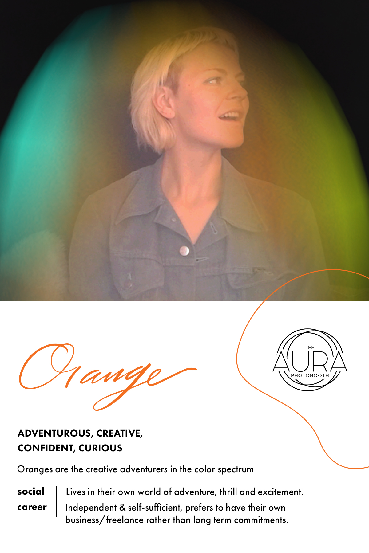 Orange Aura Reading | The Aura Photobooth