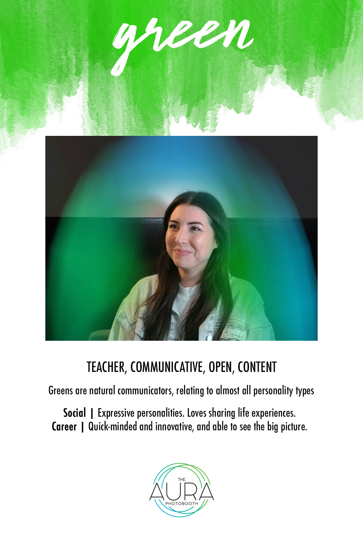 Green Aura Reading | The Aura Photobooth