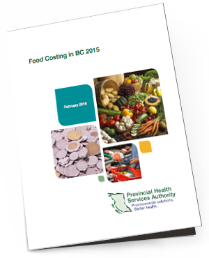 Food Costing in BC 2015    Prepared every two years by the Provincial Health Services Authority and the Ministry of Health, this report is designed to present the date on the average monthly cost of a nutritionally adequate, balanced diet in BC based on the National Nutritious Food Basket (NNFB). This helps us to understand the immediate and direct relationship between income level and food insecurity.