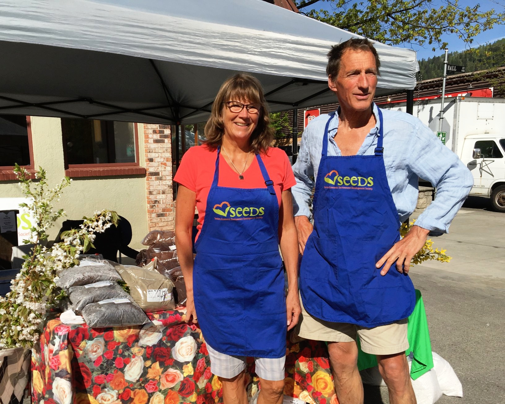 Jon Meyer and Liz Abraham at GardenFest 2019