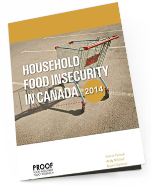 PROOF Annual Reports   The Annual Reports on Household Food Insecurity are designed to provide a tool, using Statistics Canada data, to monitor trends, enabling the identification of priorities for interventions to address this major public health issue. It builds on the extensive work of the Office of Nutrition Policy and Promotion at Health Canada in monitoring household food insecurity in Canada and Statistics Canada.