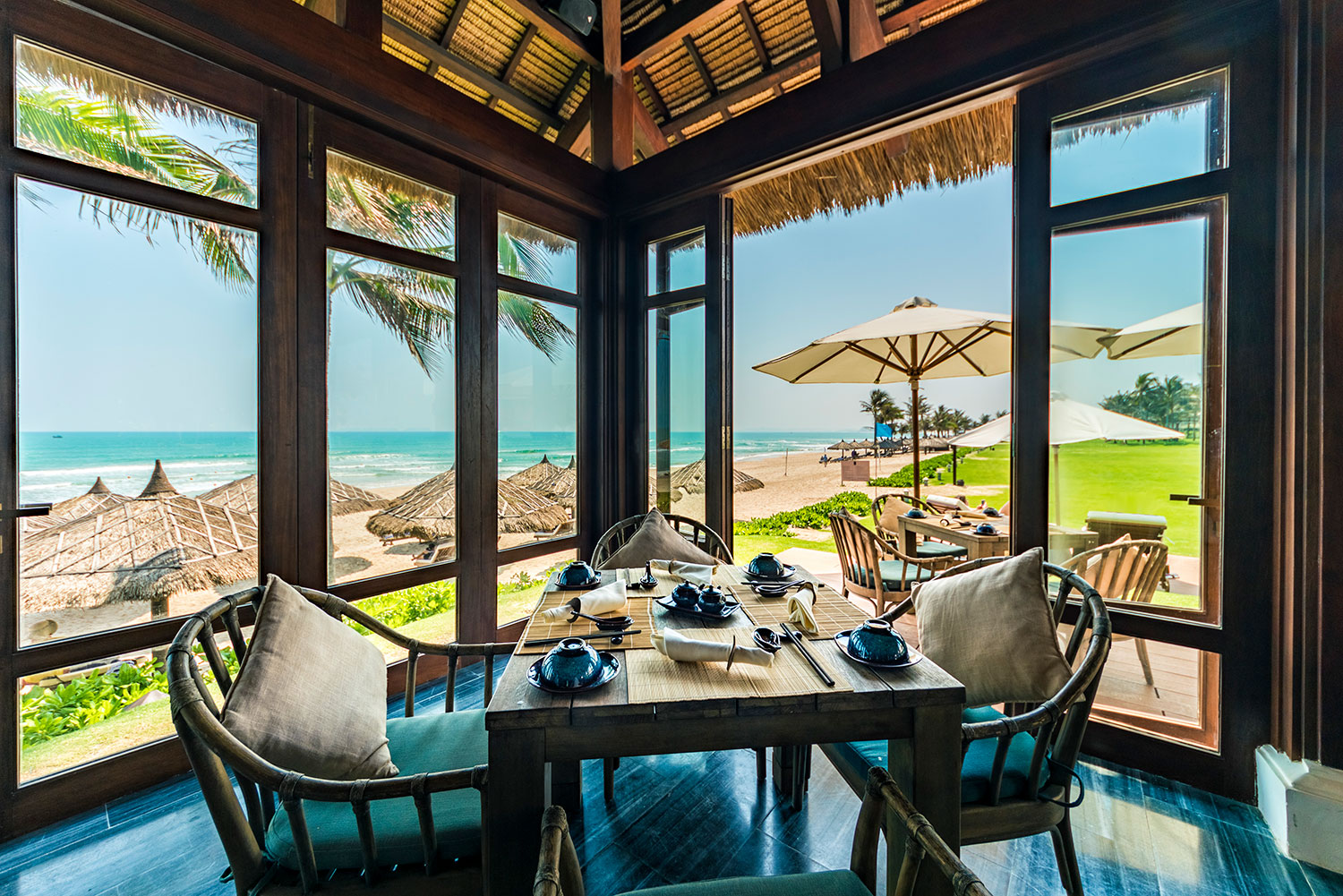 Beautiful Surroundings - As you watch the sunset over the ocean and listen to the sounds of the waves crashing on the beach you will fall in love with Vietnam all over again at this atmospheric restaurant.