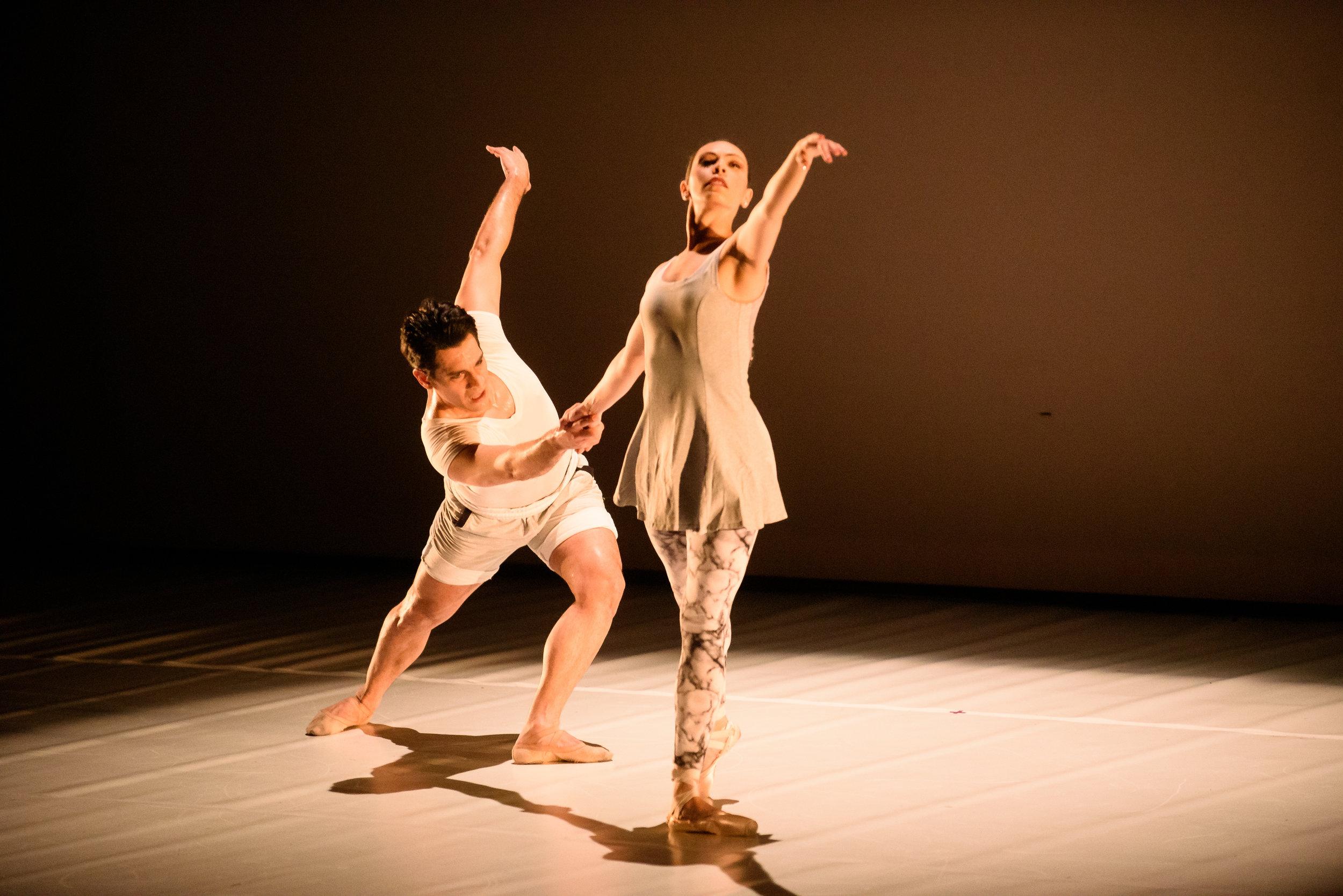 GLACIER: A Climate Change Ballet  Company Dancer Diego Sosa, and Giovanna Montoya.