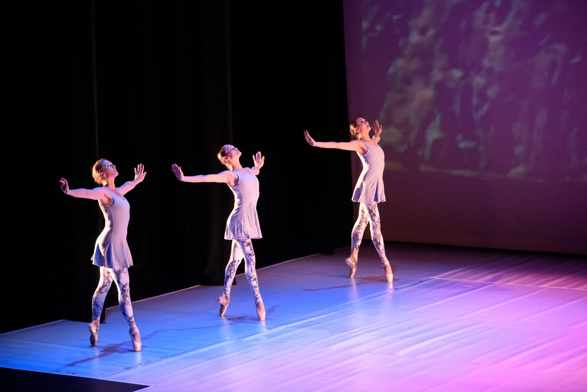Company Dancers Sara Bradna, and Emily Hashiguchi.