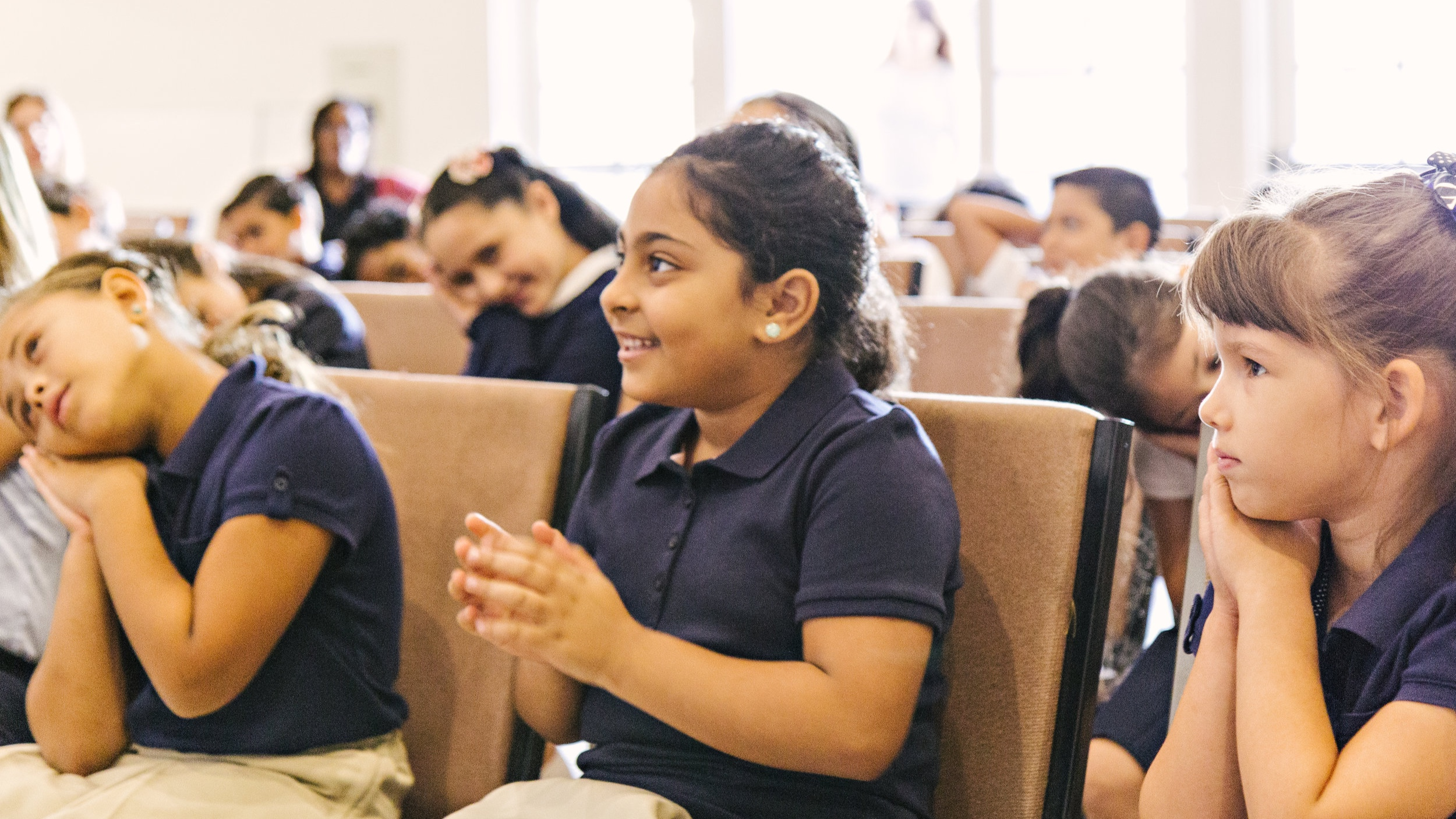 Bible Class - We instill Christian values in our students by attending bible class each week. Students learn a verse and hear a bible story in a fun and comfortable atmosphere.
