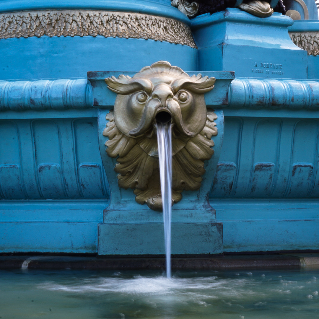 One of the many animal shaped spouts on the Ross Fountain in Princes Street Gardens, a short walk from Castle Terrace.