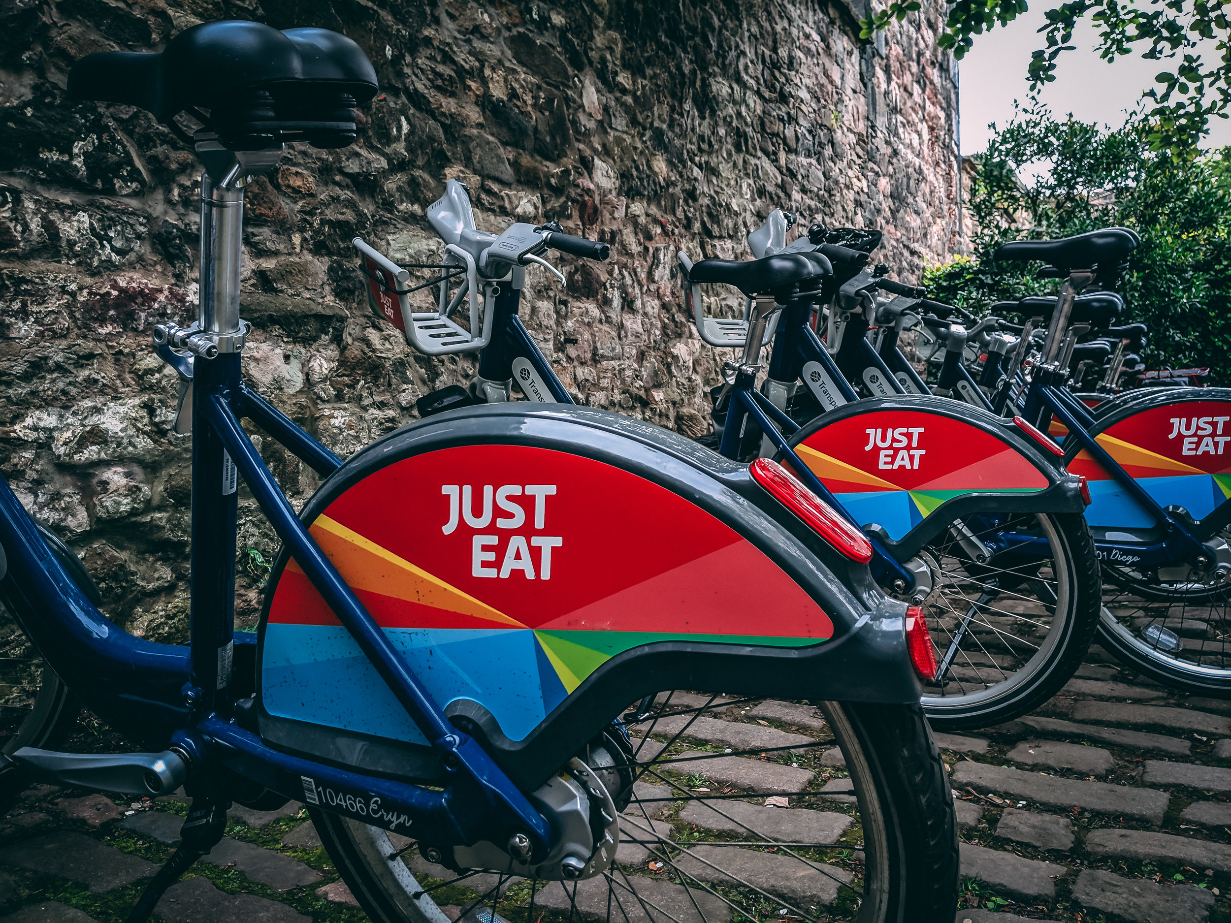 Just Eat Bikes, parked up.