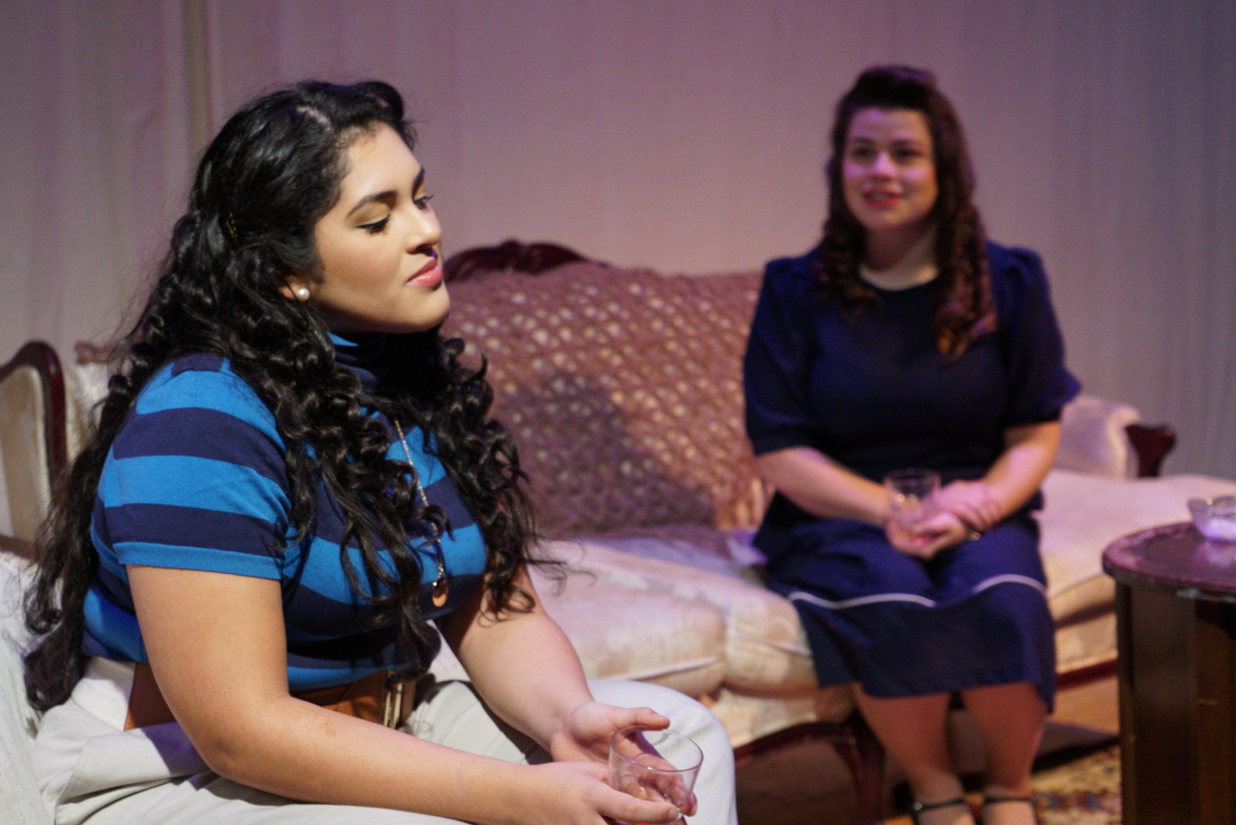 Sophia Aranda (Cindy) and Shanna Iglesias (Christina), Act II