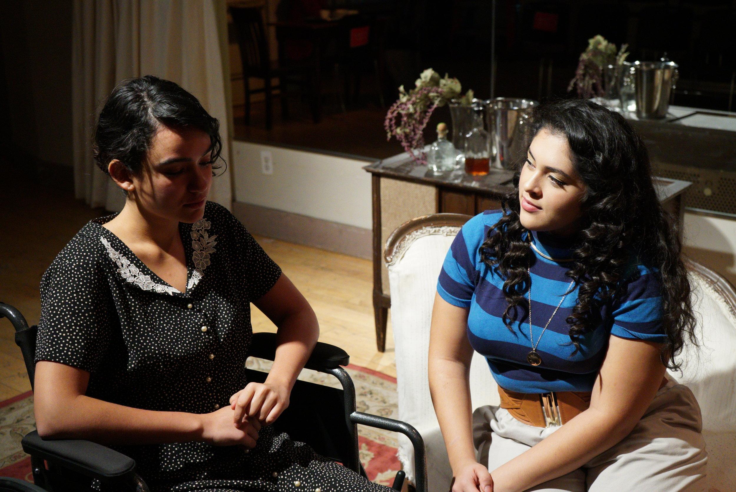 Sophia Aranda (Cindy) and Maya Hendricks (Julia), Act I