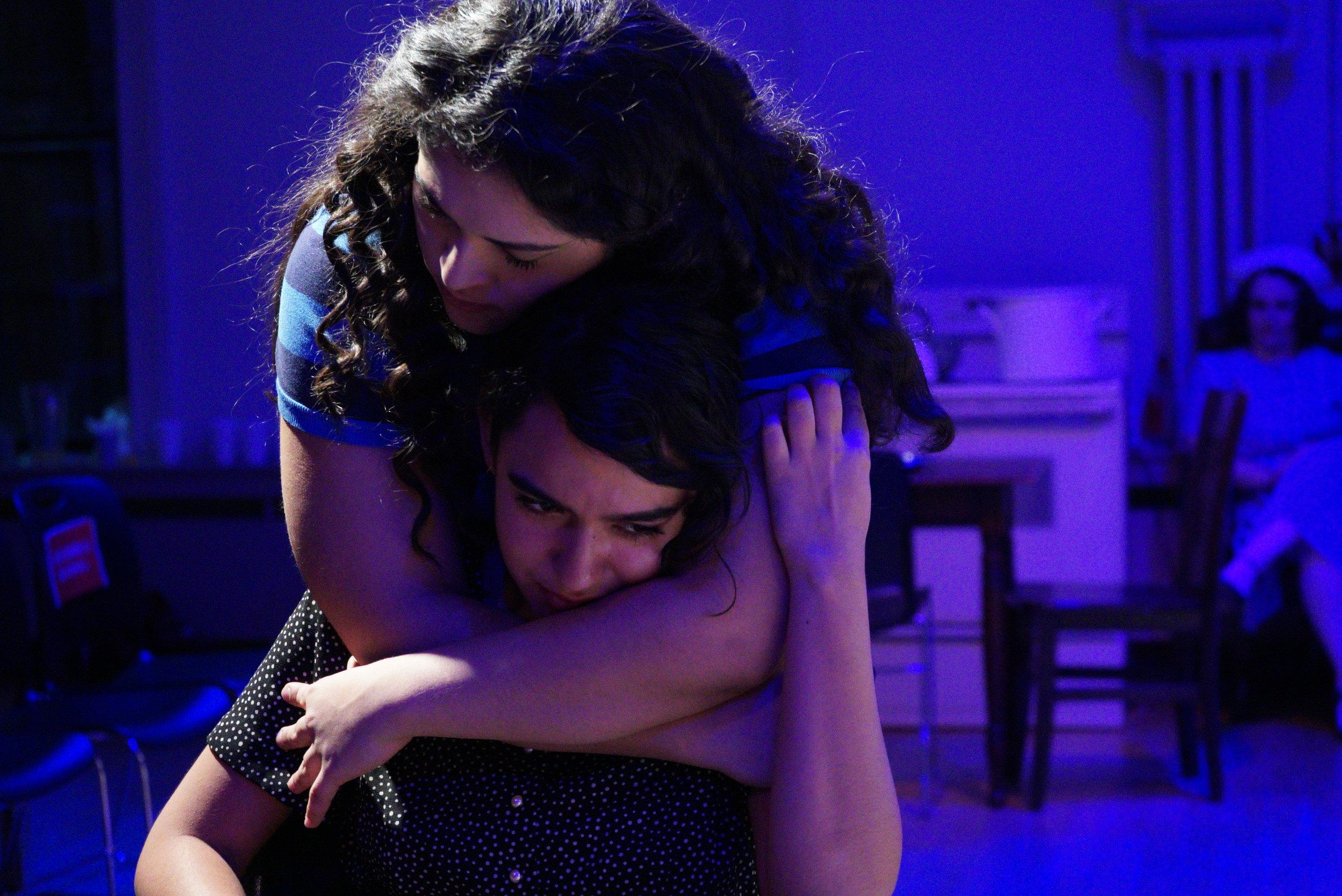 Sophia Aranda (Cindy) and Maya Hendricks (Julia), Act III