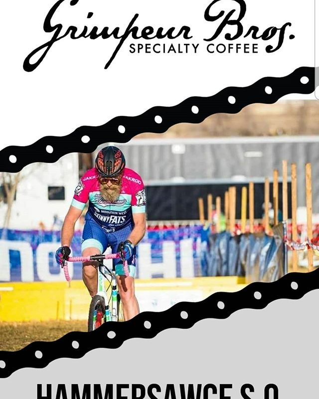 """With Cyclocross season fast approaching, we're thrilled for the support we get from our sponsors. Check out our Hammersauce Single Origin coffee, roasted by @grimpeurbrosspecialtycoffee . Dan is a huge supporter of cyclocross and had been nothing but amazing towards us. In the words of Scotty D from the @bikeshopcx podcast, """"support the people that support our sport."""" Please head on over to Grimpeur Brothers and grab a bag!  https://www.grimpeurbros.com/collections/frontpage/products/hammersawce-single-origin-coffee  #teamhammersawcx #grimpeurbros #drinkgreatcoffee #coffeedoping"""