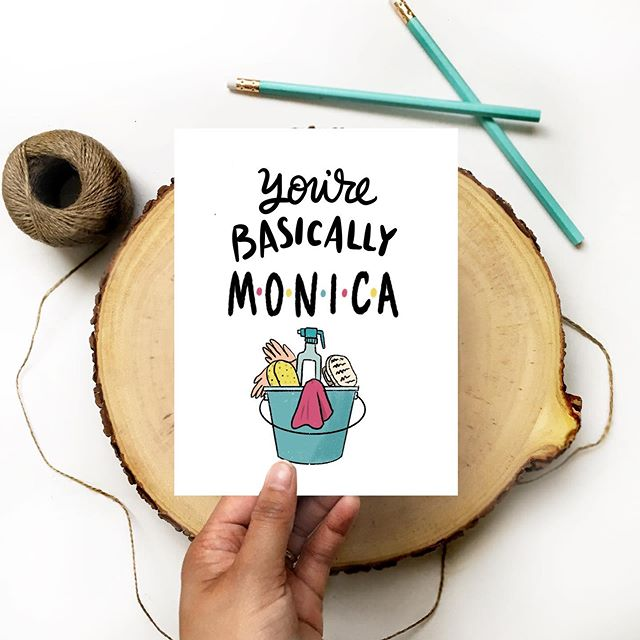 Anyone out there know at least one person who has Monica tendencies? #amandaholdendesigns #friends