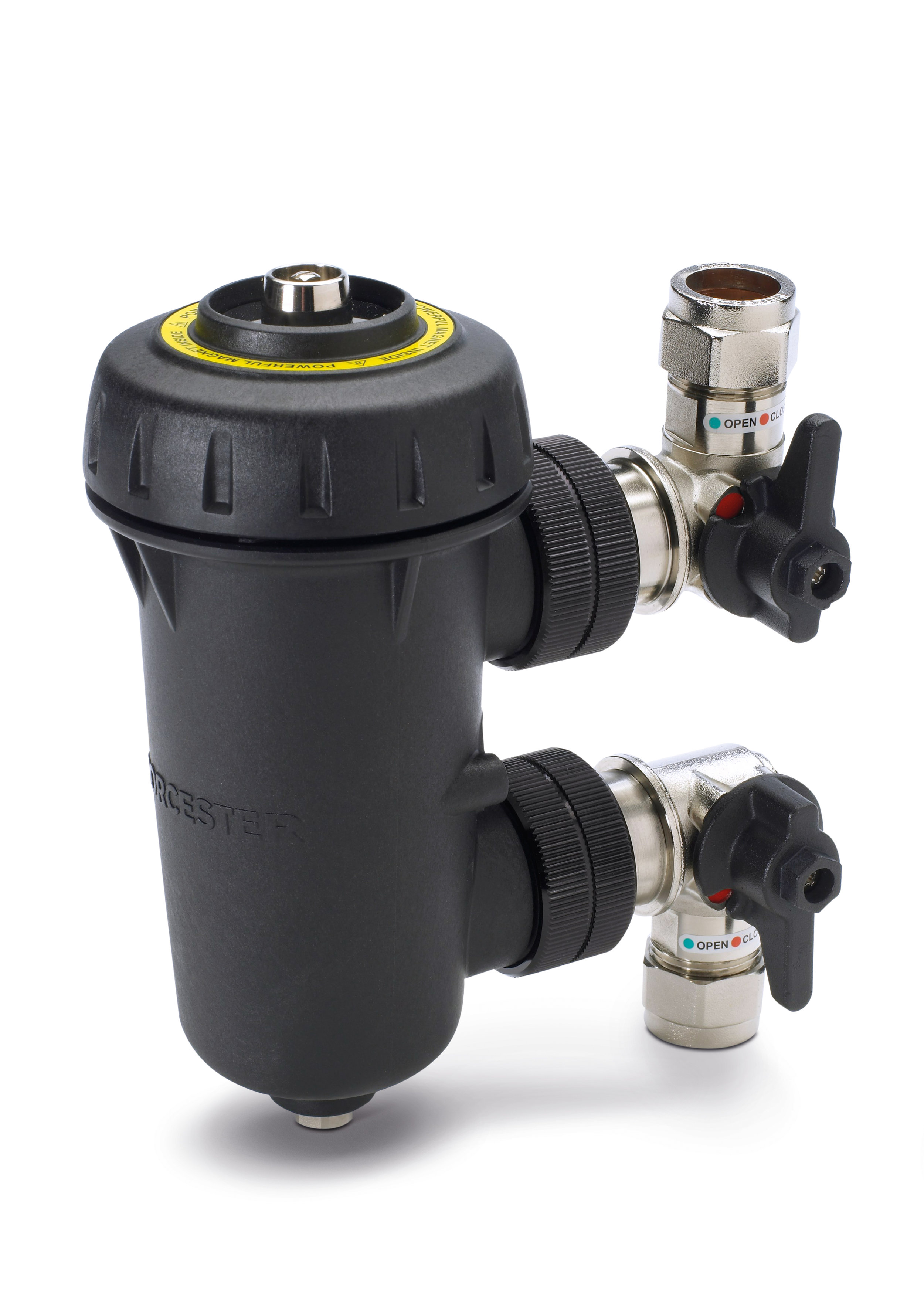 System Filter has been designed to combat the damaging effects of system debris and pollutants, allowing homeowners to protect their boiler or heat pump for a fraction of its cost. Over time, central heating system water accumulates harmful dirt and debris, such as rust and solder fragments shed by radiators and boilers, all of which can cause considerable problems. The accessory has a high powered internal magnet that can capture up to 300g of magnetic debris.