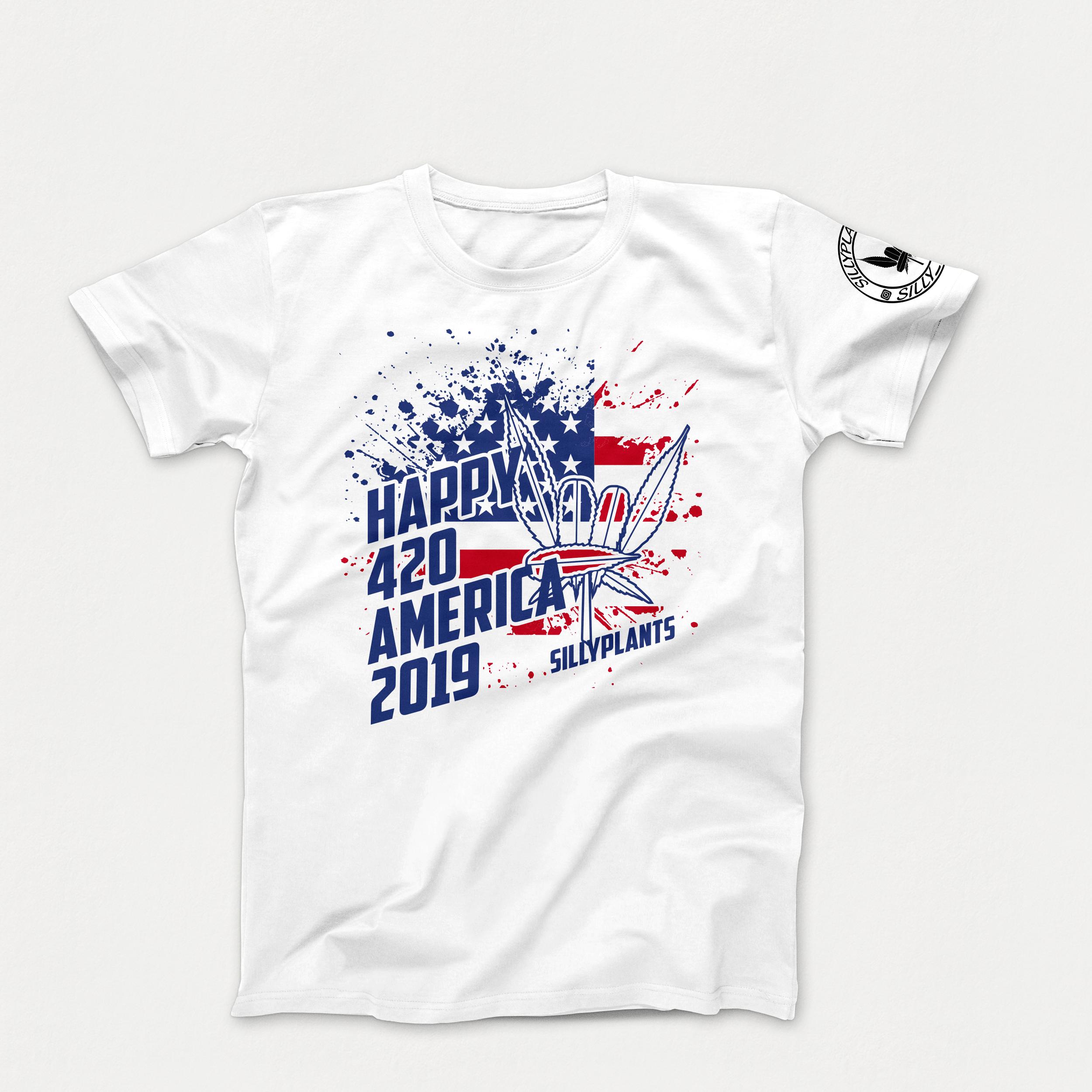 420 America T-Shirt Mockup Template.png