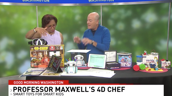 Good Morning Washington! - Gadget Nation Author Steve Greenberg takes 4D Chef out for a spin in Washington!