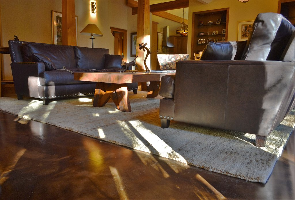 Residential Living Room Acid Stain