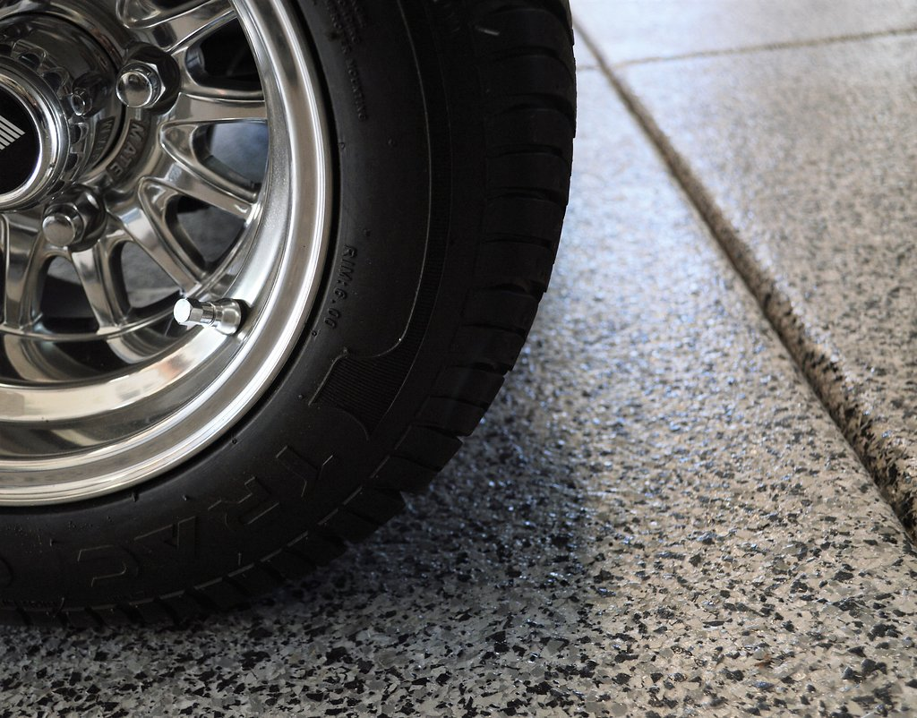 Flaked Epoxy and Tire Detail