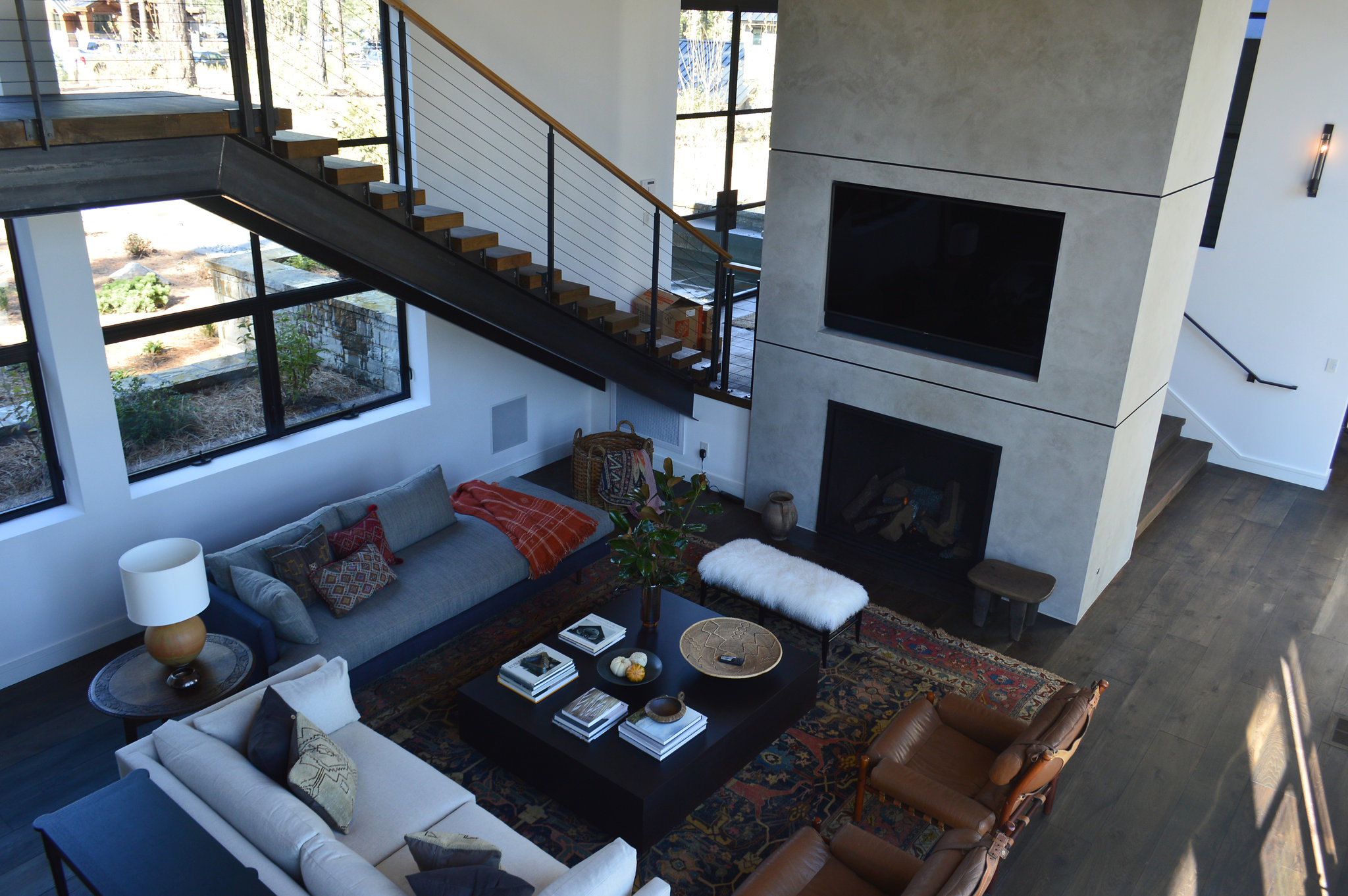 Microtop Living Room and Fireplace