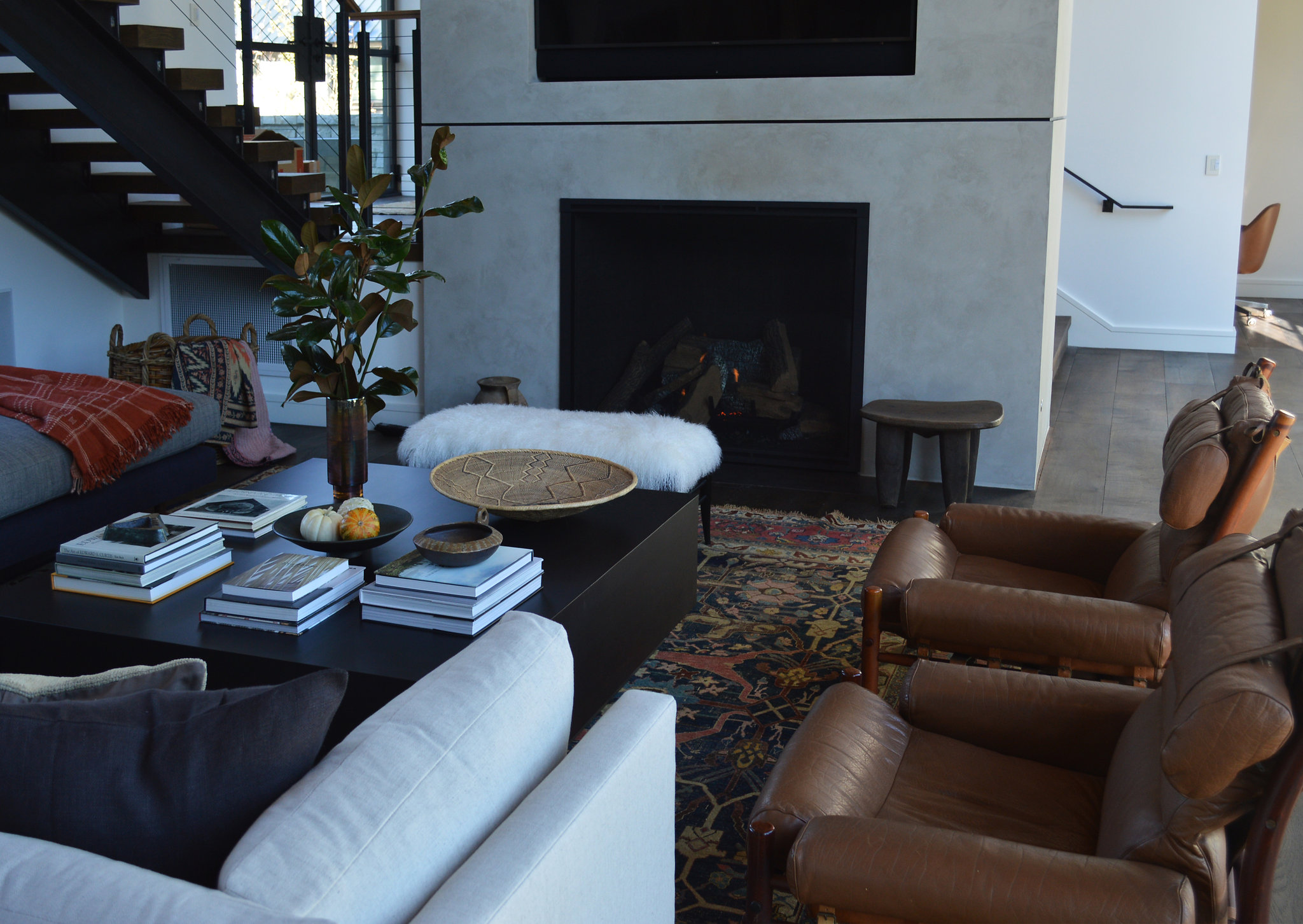 Microtopping Living Room Fireplace