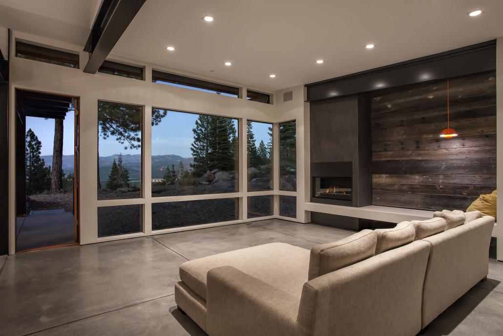 Living Room Polished Floors