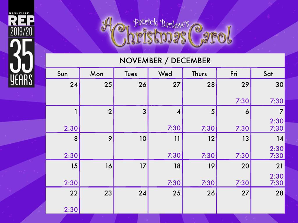A Christmas Carol Calendar