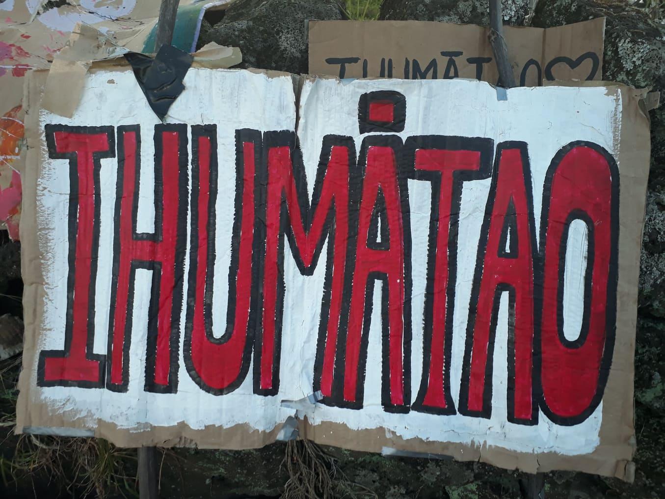 Banner from demonstration