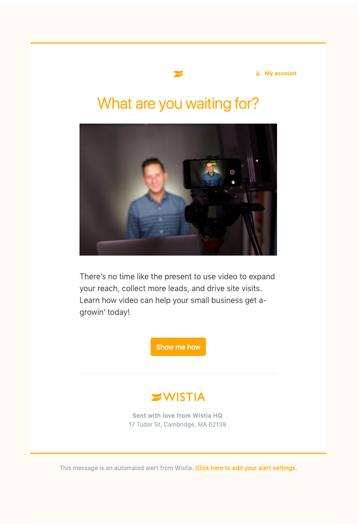 Wistia Onboarding Email Breakdown — Get Your SaaS On Board