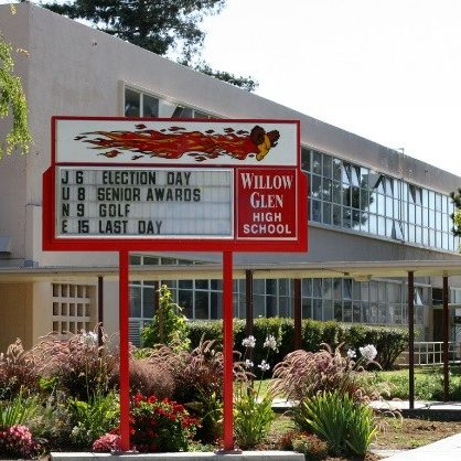 Willow Glen High School   2001 Cottle Ave., San Jose, CA 95125  408-535-6330   Learn More