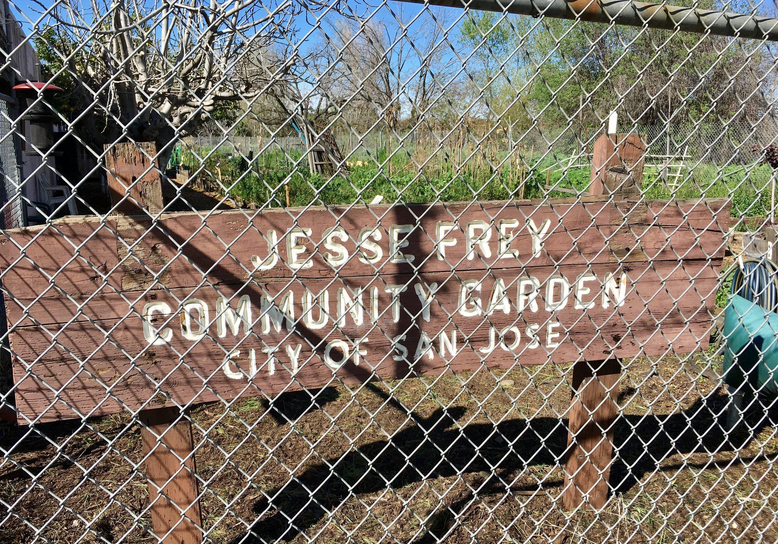 Jesse Frey Community Garden   W. Alma Ave & Belmont Way  San Jose, CA 95125   Información Adicional