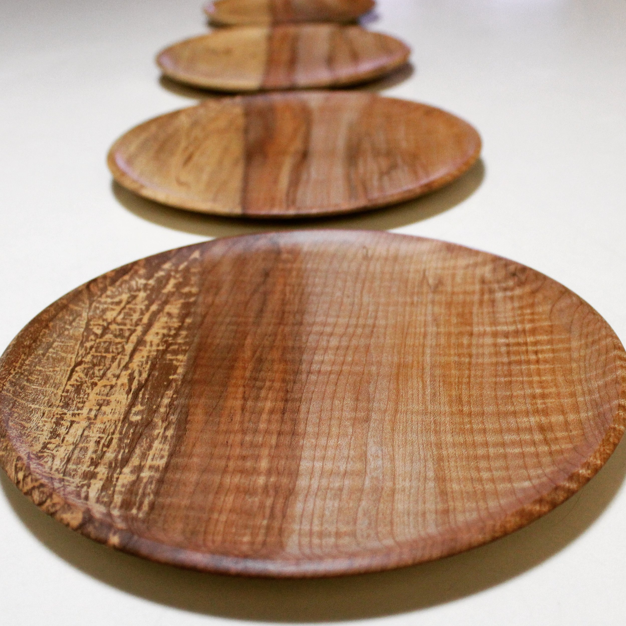 Curly Maple Platters