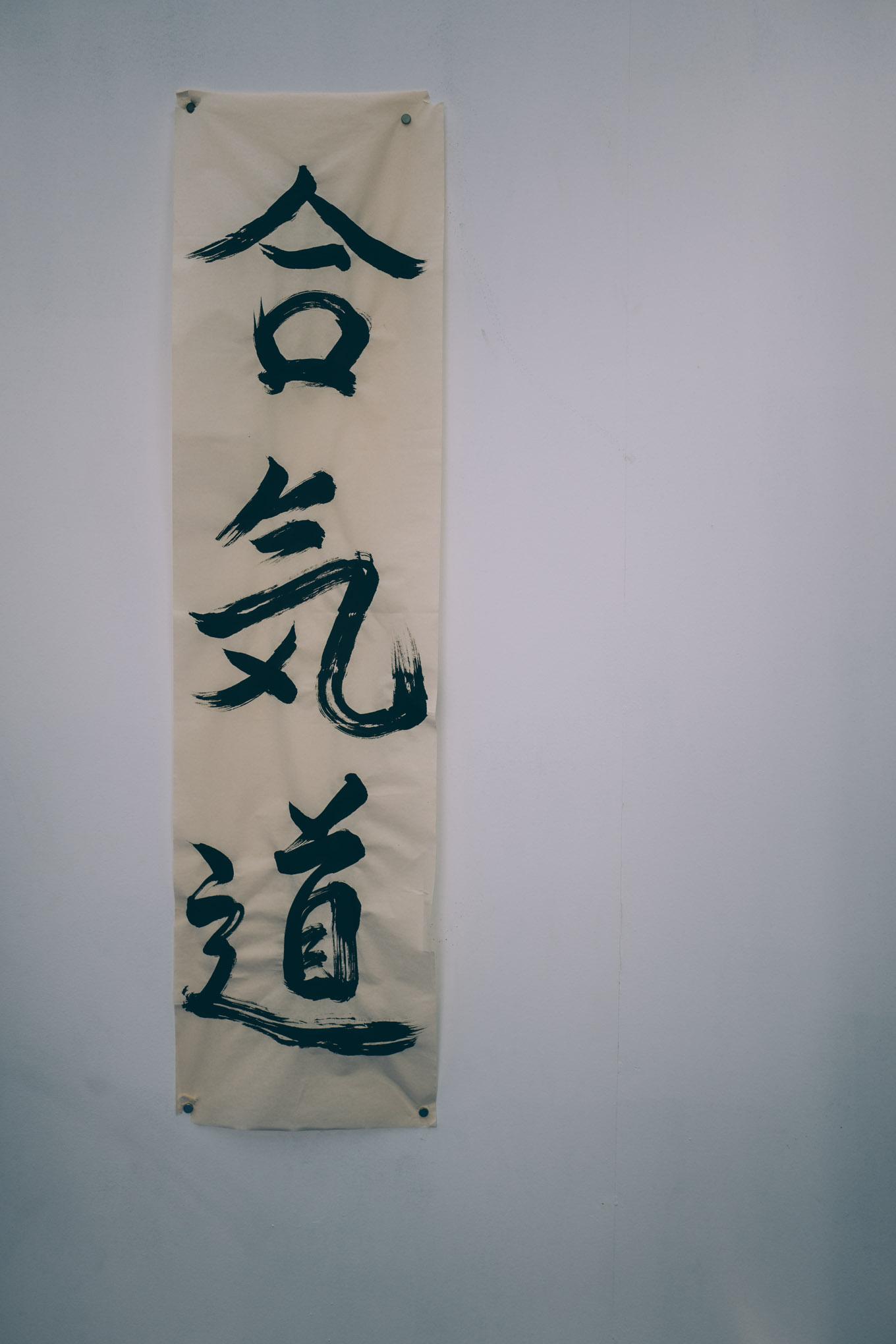 The kanji for Aikido: 合気道