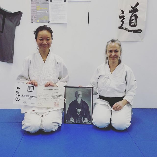 Congratulations Kazumi on earning 5th kyu! We're so proud of your fantastic progress. 🙇  #aikido #brooklyn #bushwick #newyork #nyc #martialarts #japan #budo #fitness #training #dojo