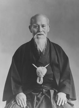Morihei Ueshiba O'Sensei, the founder of Aikido