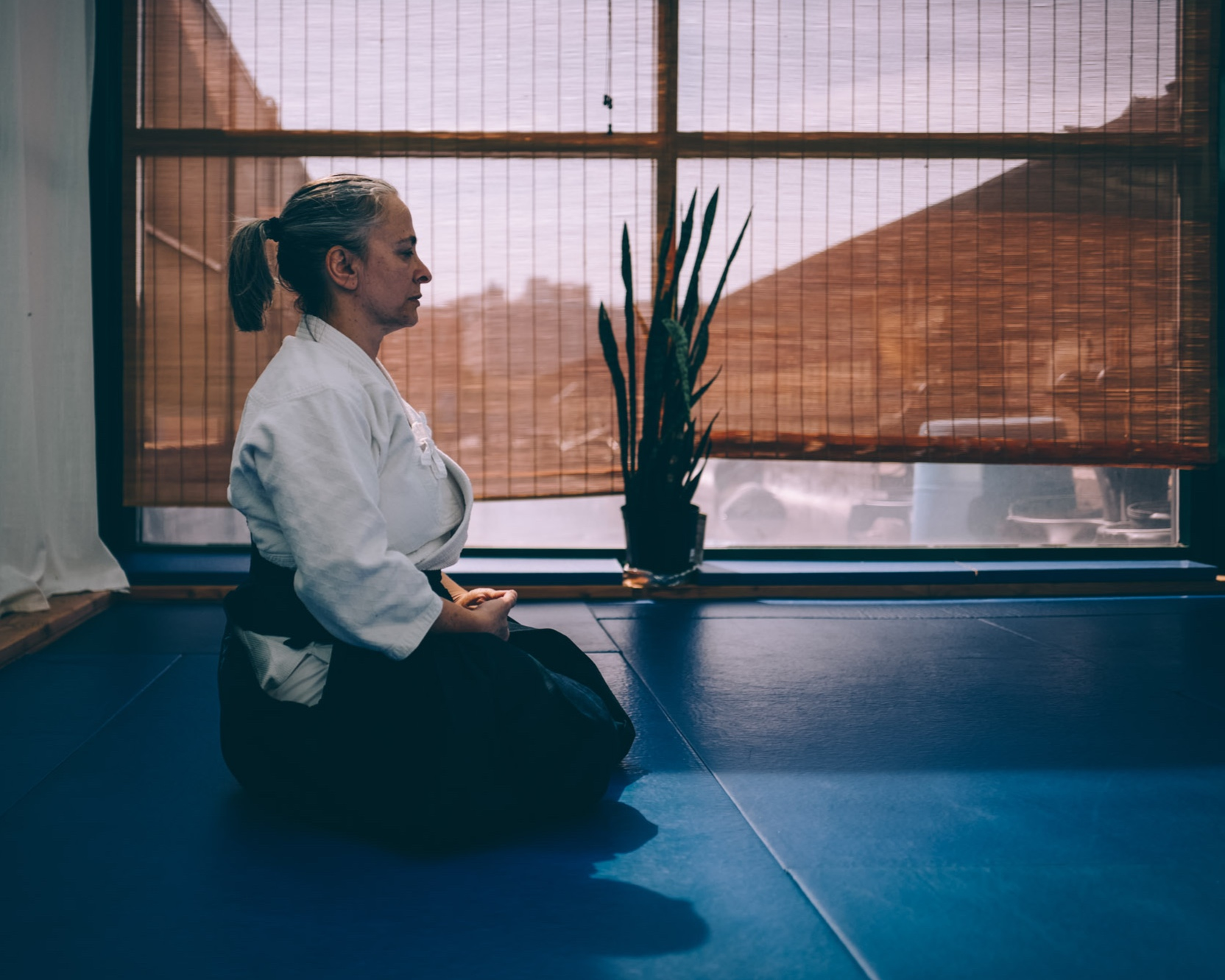Claire Keller leads an Aikido class at Bushwhack Dojo, in Brooklyn