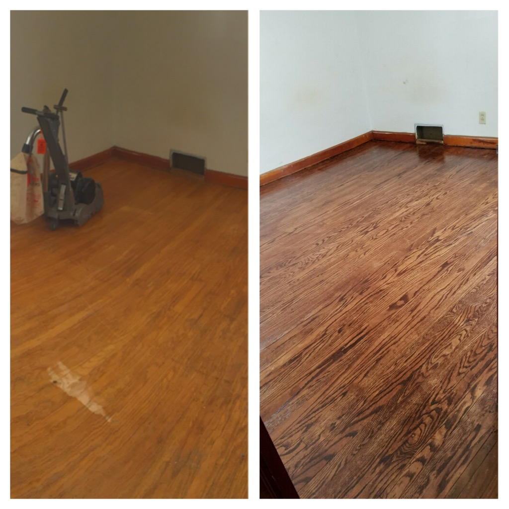 We pulled grain detail we didn't know existed from this old oak floor from the 50s!