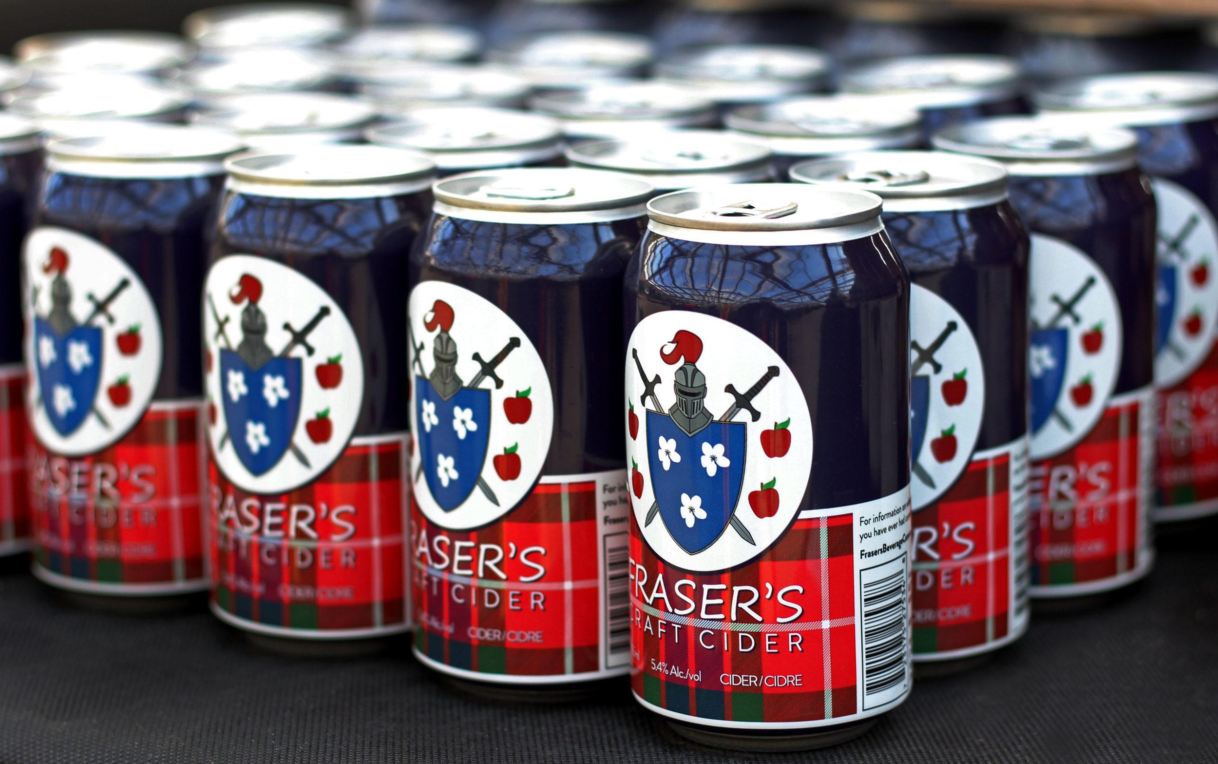 Fraser's Craft Cider - Made with 100% Ontario apples, Fraser's Craft Cider is a dry cider with less than 1g of sugar in each can, making it the perfect pair to any patio in Ontario regardless of the season