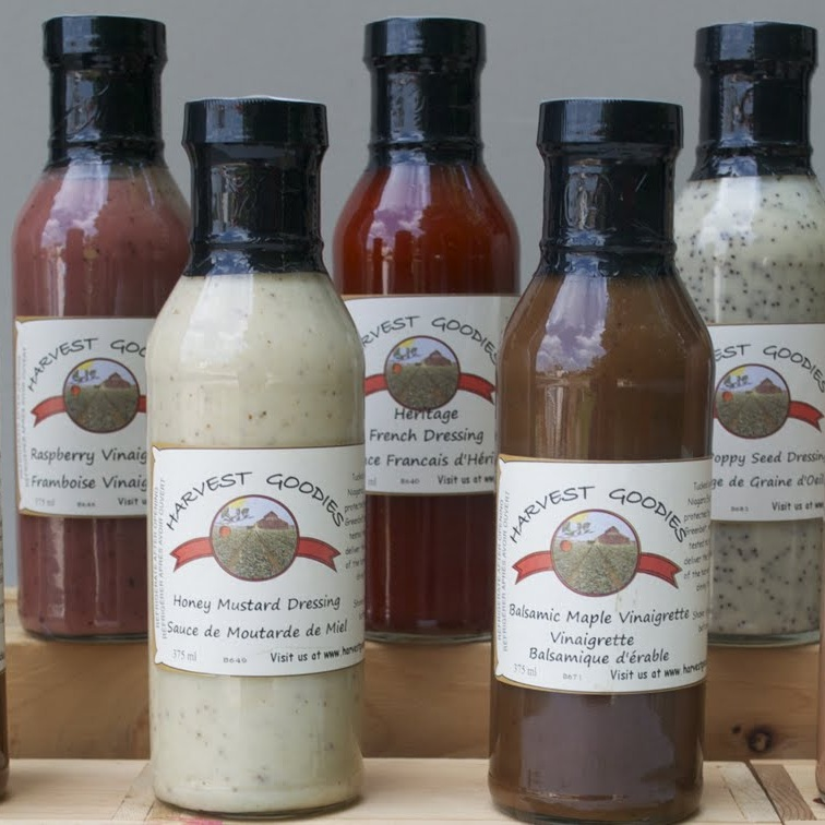Salad Dressing - - Balsamic Maple Vinaigrette - Honey Mustard- Garlic Scape Vinaigrette - Maple Asian- Heritage French - Herb and Garlic Vinaigrette- Maple Berry Vinaigrette - Poppy Seed- Raspberry Vinaigrette - Strawberry Vinaigrette- Roasted Red Pepper Vinaigrette