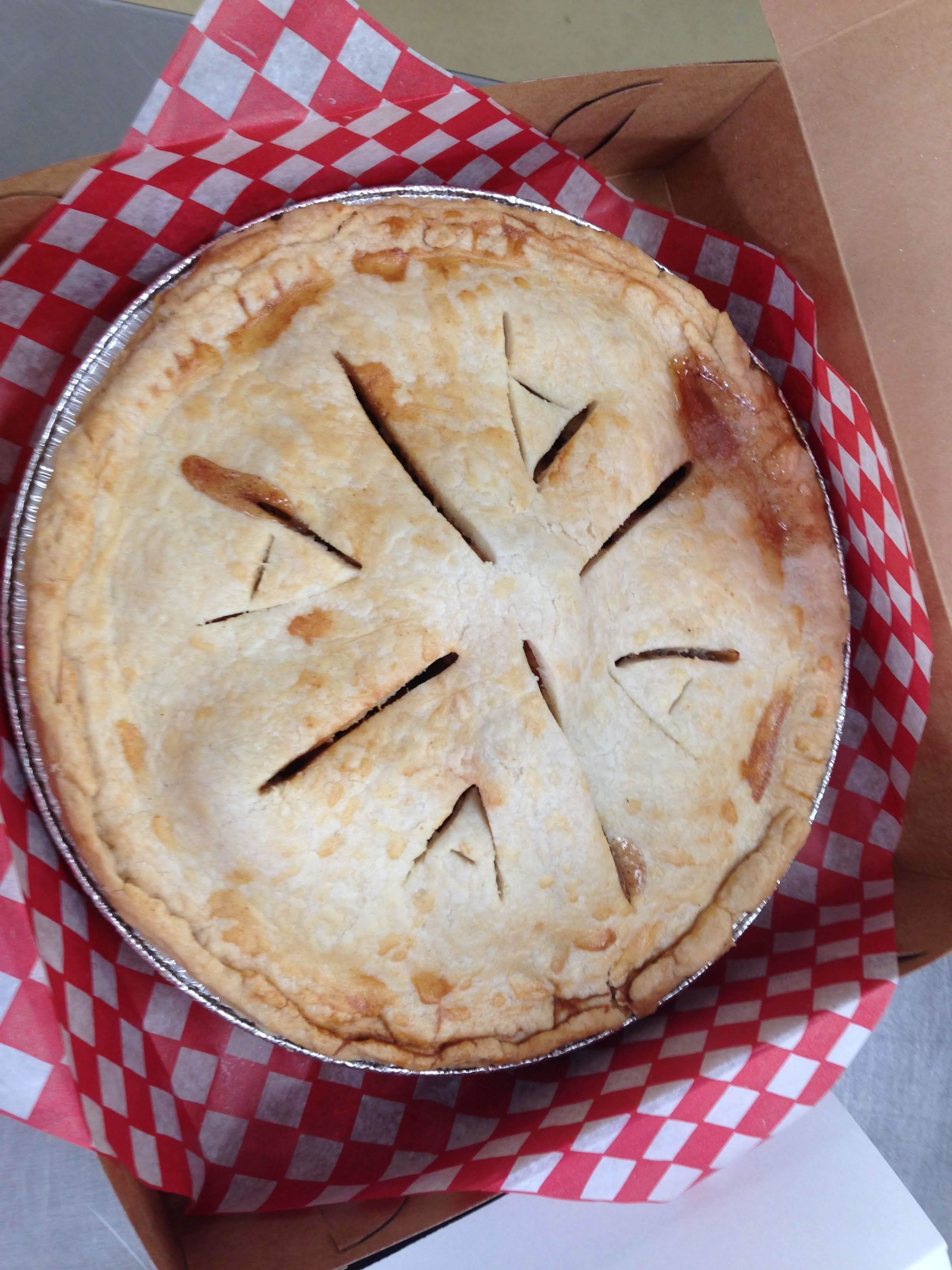 Baked Goods - - Pies- Butter Tarts- Nut Rings- Peanut Butter Brittle- Apple Crisp- Chicken and Beef Pot Pies