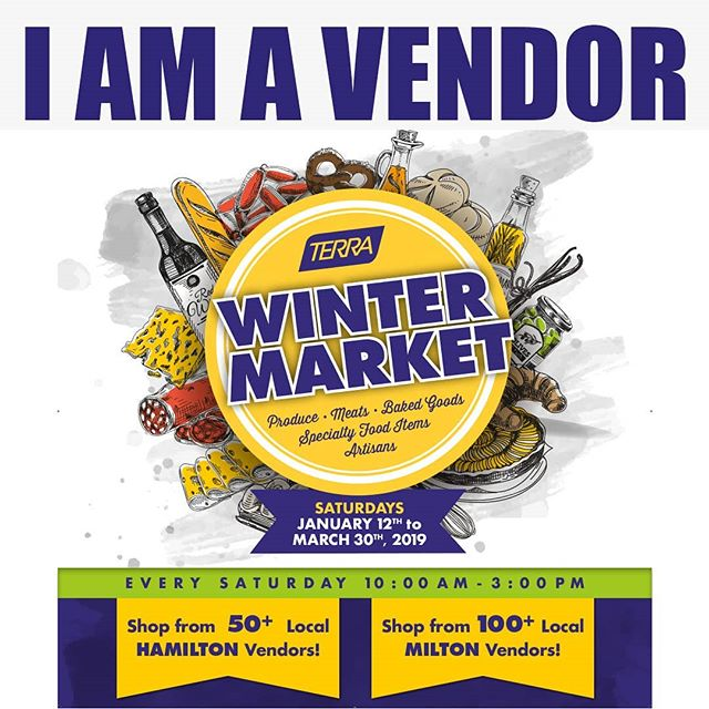 Come check us out at Terra's Milton Winter Market for 2019!  @wheelbarroworchards @harvestgoodies