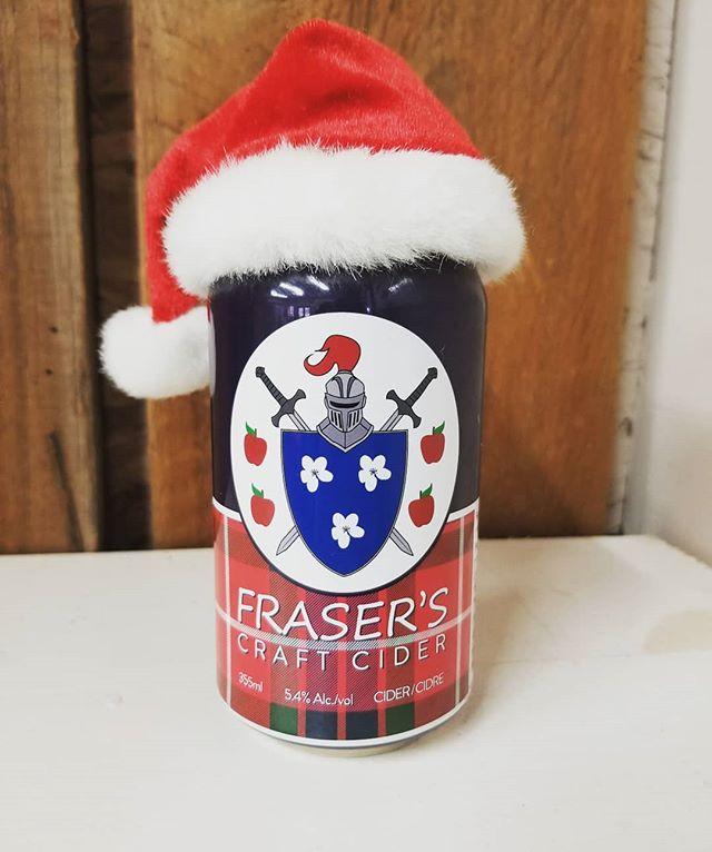 Tis the season for a Fraser's Craft Cider  #milton #wheelbarroworchards #headtothehills #harvestgoodies #hardcider #cider #christmas #holidays