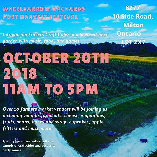 Take one and pass it on  #wheelbarroworchards #harvestgoodies #cider #hardcider #pommies #spirttreecidery #lcbo #beerfest #Georgetown #headtothehills