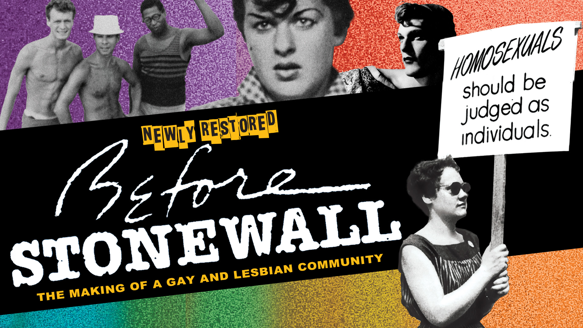 """Before Stonewall"" Poster Courtesy of First Run Features."