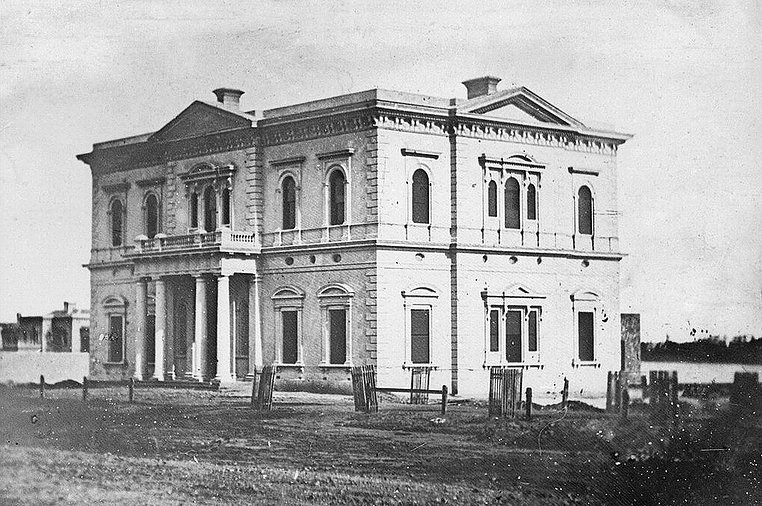 Public Library/South Australian Institute Building, North Terrace, Adelaide, circe 1865. State Library of South Australia. B 41736.
