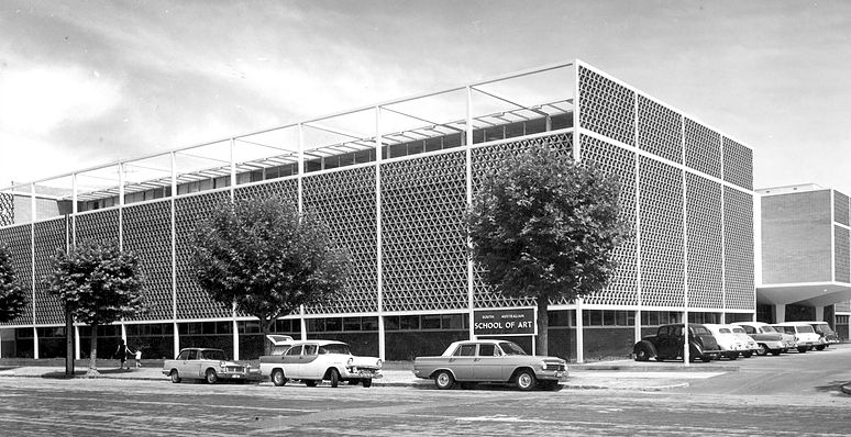 Street view of the South Australian School of Art, Stanley Street, North Adelaide. 1963. School of Art Prospectus, 1963.