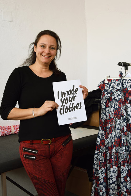Meet Misha - She has the magic wand that transforms our sketches in real clothes. Her pattern making skills are amazing!