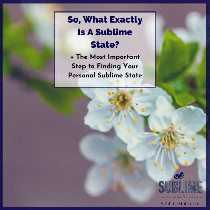 What Exactly Is A Sublime State | Genevieve Chittick Tonin | Sublime State | Holistic Nutrition