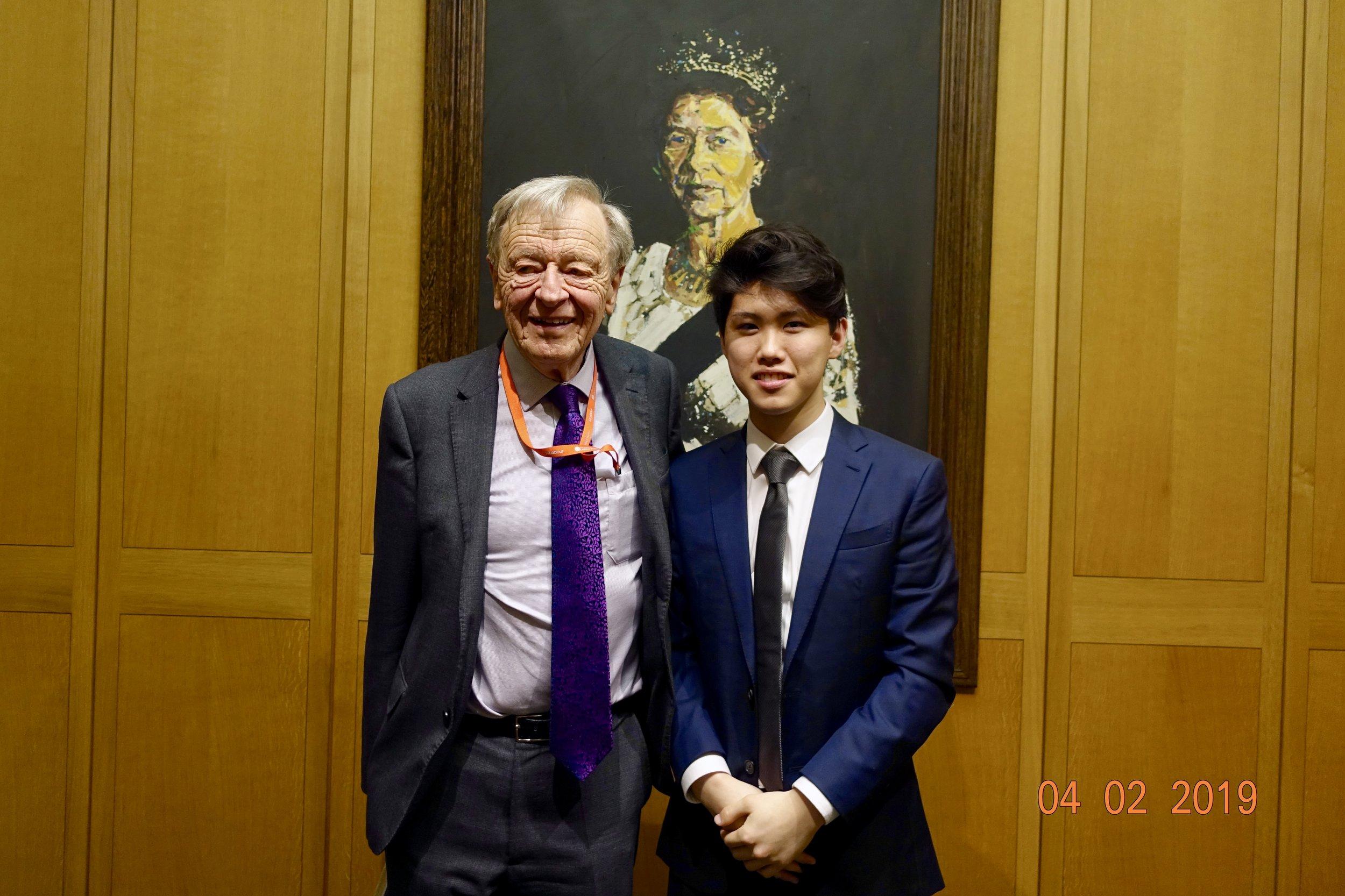 With Lord Alf Dubs, Holocaust Survivor & MP