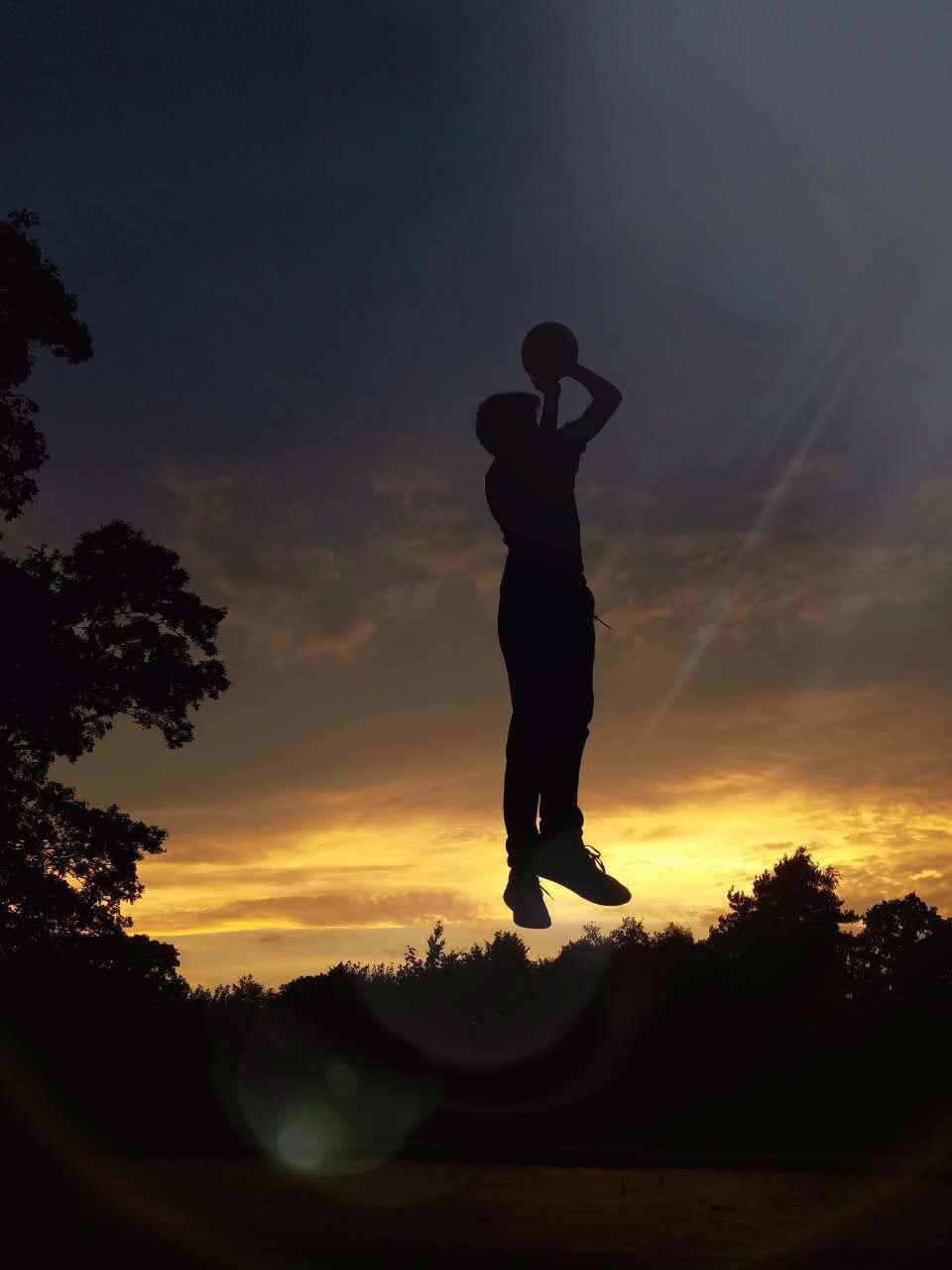 Basketball before dinner