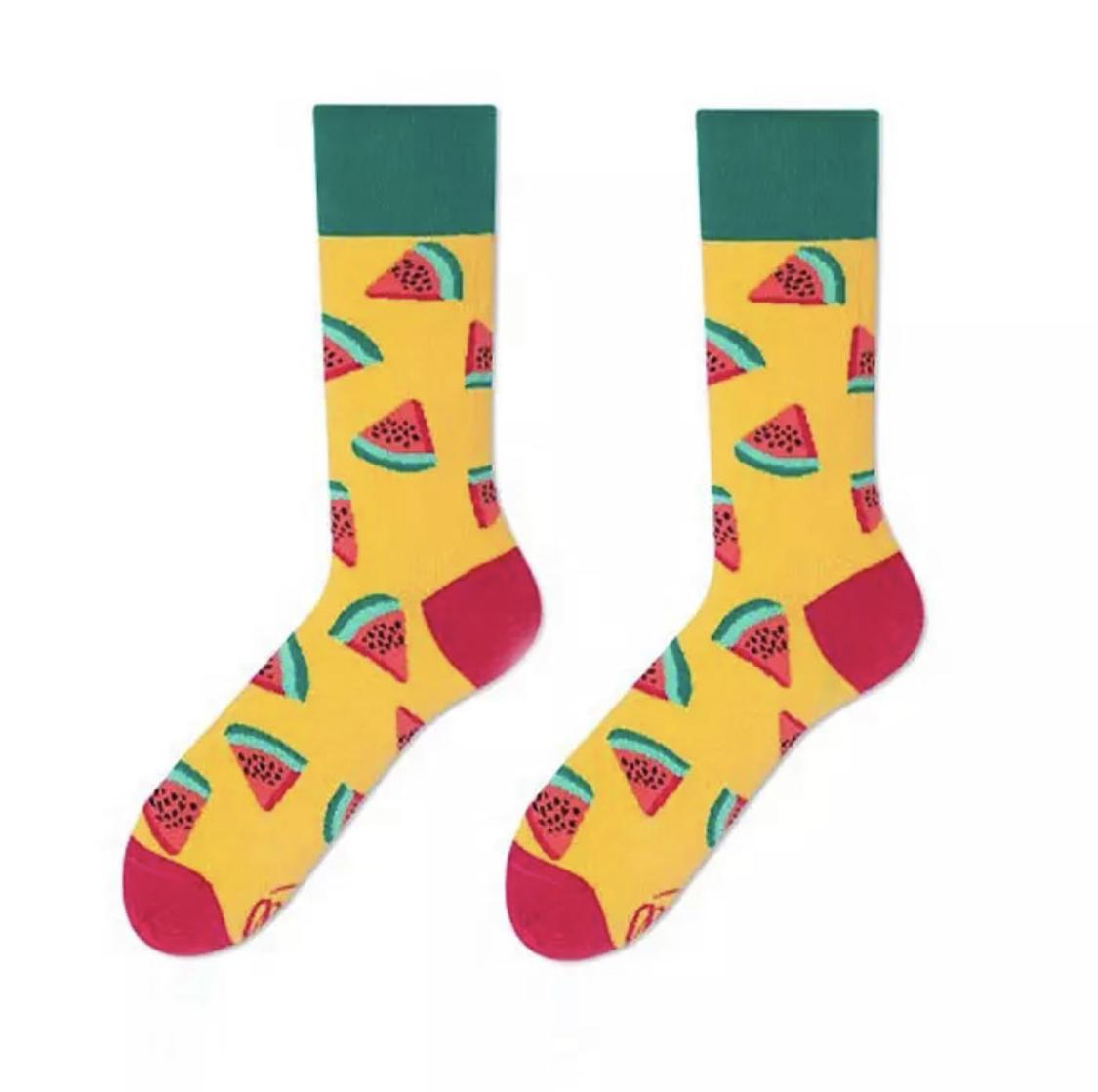 Watermelon Funky Socks